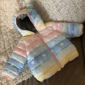 Rainbow GAP Teddy Ear Puffer Baby Winter Coat